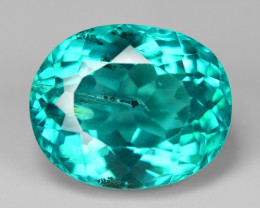 4.00 Cts Un Heated Natural Green Apatite Loose Gemstone