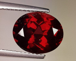 3.76 ct AAA Quality Gem Oval Cut Top Luster Rhodolite Garnet