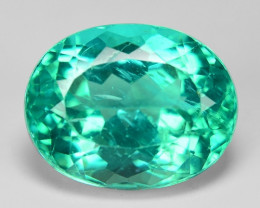 3.26 Cts Un Heated Natural Green Apatite Loose Gemstone