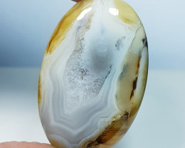39.78 ct Natural  Lace Agate Oval Cabochon  Gemstone