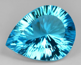 28.41 Carat  Millennium Cut Super Swiss Blue Natural Topaz Gemstones