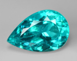 2.73 Cts Un Heated Natural Neon Blue Green Apatite Loose Gemstone