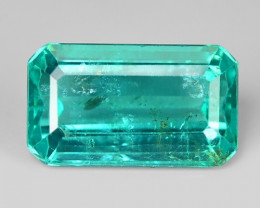 3.62 Cts Un Heated Natural Green Apatite Loose Gemstone