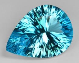 27.43  Carat  Millennium Cut Super Swiss Blue Natural Topaz Gemstones