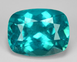 2.15 Cts Un Heated Natural Neon Blue Green Apatite Loose Gemstone