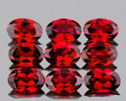 6x4 mm Oval 9 pcs 5.28cts Red Garnet [VVS]