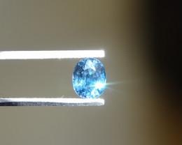 0.78ct Cobalt-Fine-Blue Spinel Cert.