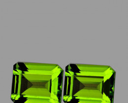 9x7 mm Octagon 4.28cts Green Peridot [VVS]