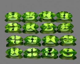 5x2.5 mm Marquise 25 pcs 3.84cts Green Peridot [VVS]
