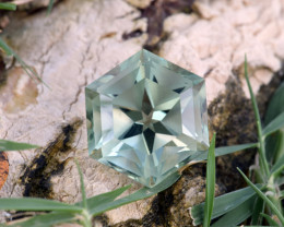 Natural Green Amethyst/Prasiolite 9.40 Cts Well Cut Gemstone