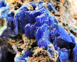 97.65g LINARITE SPECIMEN ELECTRIC BLUE KING ARTHUR MINE THRACE GREECE