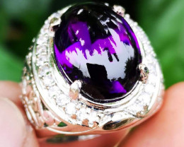 Rare Amazing Amethys Natural Purple Original Tanjung Indonesia HQ luster.