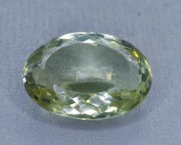21.14 Crt  Green Prasiolite Amethyst Faceted Gemstone (Rk-47)