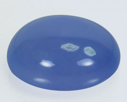 ~UNTREATED~ 15.14 Cts Natural Blue Chalcedony Oval Cabochon Brazil