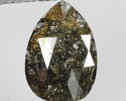 2.24 CT DIAMOND ROSE CUT BROWN COLOR GEMSTONE DR4