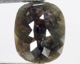 2.40 CT DIAMOND ROSE CUT BROWN COLOR GEMSTONE DR7
