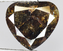 3.47 CT DIAMOND ROSE CUT BROWN COLOR GEMSTONE DR10