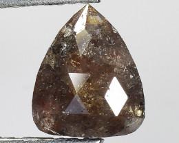 1.37 CT DIAMOND ROSE CUT BROWN COLOR GEMSTONE DR13
