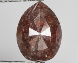 3.56 CT DIAMOND ROSE CUT BROWN COLOR GEMSTONE DR17