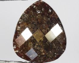 1.63 CT DIAMOND ROSE CUT BROWN COLOR GEMSTONE DR19