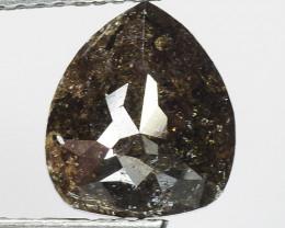 1.92 CT DIAMOND ROSE CUT BROWN COLOR GEMSTONE DR20