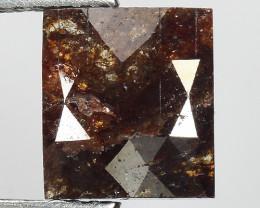1.91 CT DIAMOND ROSE CUT BROWN COLOR GEMSTONE DR23