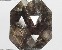 1.90 CT DIAMOND ROSE CUT BROWN COLOR GEMSTONE DR24