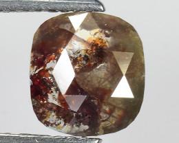 1.35 CT DIAMOND ROSE CUT BROWN COLOR GEMSTONE DR25