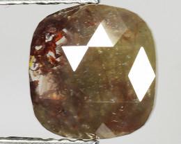 1.34 CT DIAMOND ROSE CUT BROWN COLOR GEMSTONE DR27