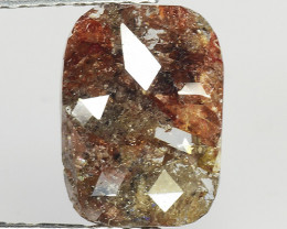 1.71 CT DIAMOND ROSE CUT BROWN COLOR GEMSTONE DR45