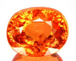 ~AAA~ 9.65 Cts Natural Fanta Orange Spessartite Garnet Oval Cut Namibia