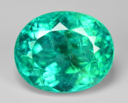 4.26 Cts Un Heated Natural Green Apatite Loose Gemstone