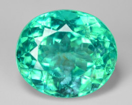3.92 Cts Un Heated Natural Green Apatite Loose Gemstone