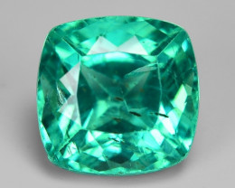 2.64 Cts Un Heated Natural Green Apatite Loose Gemstone