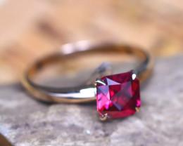 14Kt Solid Gold Ring Natural Precision Malaya Garnet Diamond Ring Size 6.25
