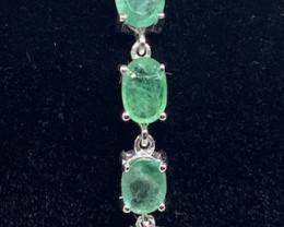 (E) Spectacular 11.48tcw Brazilian Emerald bracelet Untreated!