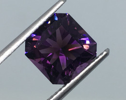 2.82 Carat VVS Amethyst Master Cut Deep Purple Perfection !