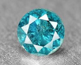 0.10 Cts Sparkling Rare Fancy Vivid Blue Color Natural Loose Diamond