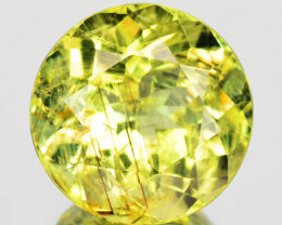 3.02 Cts Unheated Greenish Yellow Color Natural Tourmaline Gemstone