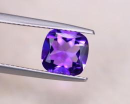 1.87Ct Natural Purple Amethyst Cushion Cut Lot LZ6327