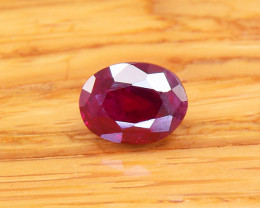 Unheated Ruby, Deep Pigeon Blood 0.81ct (01708)