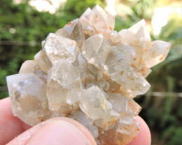 47.14g QUARTZ CRYSTAL CLUSTER FROM KIMMERIA XANTHI GREECE