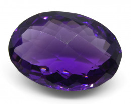 14.66 ct Oval Checkerboard Amethyst