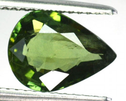 ~LOVELY~ 2.85 Cts Natural Sapphire Beautiful Green Pear Cut Madagascar
