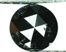2.52Cts Natural Coal Black Diamond 7mm Round (Rose Cut) Africa