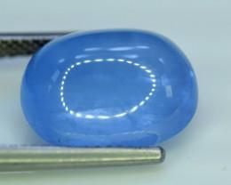 Aquamarine, 14.75 Carats Top Quality Blue Aquamarine Cabochon