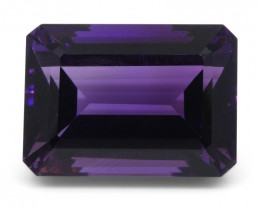 19.44 ct Emerald Cut Amethyst
