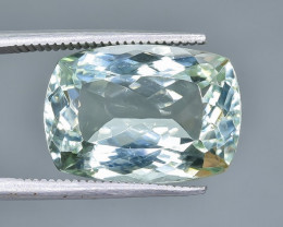 9.60 Crt Natural Green Prasiolite  Amethyst Faceted Gemstone.( AB 76)