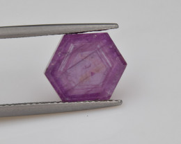 Natural Ruby 5.02 Cts with Hexagonal Pattern from Guinea