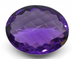 16.88 ct Oval Checkerboard Amethyst-$1 No Reserve Auction